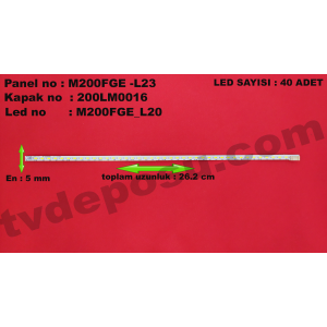 M200FGE_L20 L1-A, E117098, M200FGE -L23, 200LM00016, LED BAR