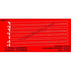 SAMSUNG, LE32S81B, T315XW02, UZUNLUK (73cm), Floresan Arası (2.5cm), Çap (3mm), LCD FLORESAN