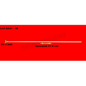 HEQ055 1019L01A-5890H, HK185WLED- BH16H, CASPER, E185HCSP-B, Uzunluk 41.6cm, en 5mm, led adet 48, LED BAR