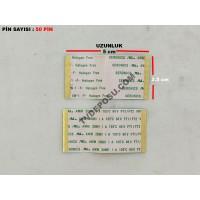 SERONICS AWM 20861 105C 60V FT1/FT2 HOLOGEN FREE 50 PİN UZUNLUK 5 CM , GENİŞLİK 2.5 CM