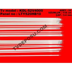 SONY, KDL-52V4000, LTY520HB10, ADET 24, UZUNLUK 118 cm, ÇAP 3.4 mm, LCD TV FLORESAN